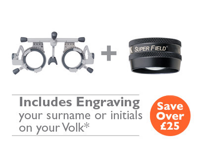 OFFER 11 <br>Oculus UB6 (42600) Trial Frame and Volk Super Field (Black) with Engraving