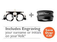 OFFER 17<br>Oculus UB3 (42180) Trial Frame and Volk Superfield (Black) with Engraving