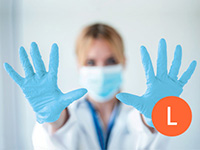 Large Nitrile Blue Non-Powdered Disposable Gloves
