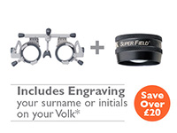 OFFER 11 <br>Oculus UB6 (42600) Trial Frame and Volk<br>Super Field (Black) with Engraving